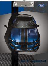 Autós felírótábla A/4, Ford Mustang blue
