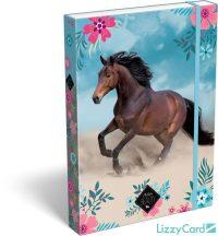 Lovas füzetbox A/4, Wild Beauty blue