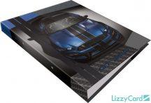Autós gyűrűskönyv A/4, 2 gyűrűs, Ford Mustang blue