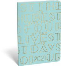 Lizzy Calendar zsebnaptár, heti, B6, tűzött, Typo Lives, 2021