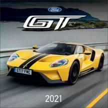 Fali naptár, nagy lemeznaptár, 30x30cm, Ford GT, 2021