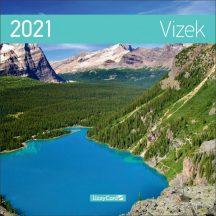 Fali naptár, nagy lemeznaptár, 30x30cm, Vizek, 2021