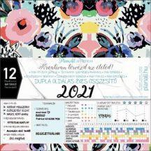 Fali naptár, nagy lemeznaptár, 30x30cm, PlanAll System havi tervező, 2021