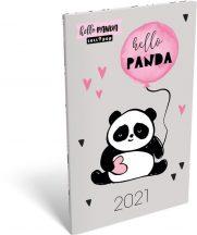 Lizzy Calendar zsebnaptár, heti, A6, tűzött, Lollipop Hello Panda, 2021