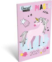 Lizzy Calendar zsebnaptár, heti, A6, tűzött, Lollipop UniCool, 2021