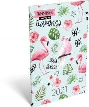 Lizzy Calendar zsebnaptár, heti, A6, tűzött, Lollipop Funmingo, 2021