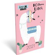 Lizzy Calendar zsebnaptár, heti, A6, tűzött, Lolipop Lama LOL, 2021