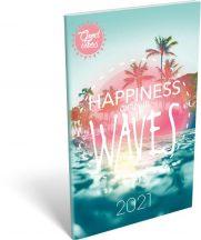 Lizzy Calendar zsebnaptár, heti, A6, tűzött, Good Vibes Waves, 2021