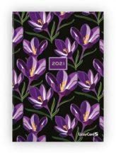 Lizzy Calendar határidőnapló, napi tervező, B6, keményfedeles, Black Lily, 2021