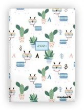 Lizzy Calendar határidőnapló, napi tervező, B6, keményfedeles, Lama, 2021