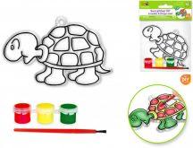 Fényvarázs forma üvegfestéshez, 3 festékkel és ecsettel, teknős
