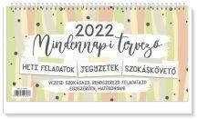 Asztali naptár, Mindennapi tervező, 28,5x15cm, 2022
