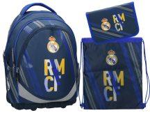 Real Madrid ergonómikus hátizsák, iskolatáska szett, RMCF, Eurocom