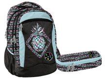 Paso hátizsák, iskolatáska tolltartóval, MAUI, ananász