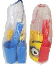 Iskolai tisztasági csomag Minion kéztörlővel (5 db-os), kék vagy piros