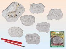 Régész szett, dinoszauruszok, 8x6cm, 6 féle változat