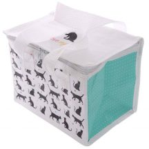 Cicás uzsonnás táska, hűtőtáska, 20,5x15,5x14cm