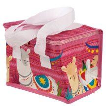 Láma uzsonnás táska, hűtőtáska, 21x16x14cm