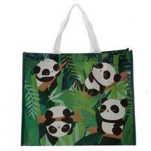 Pandás bevásárló táska, 40x33x17cm