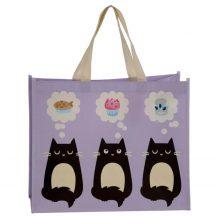 Cicás bevásárló táska, 40x33x17cm, Feline Fine