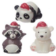 Ajakbalzsam, karácsonyi állatok, 3 féle (panda, mosómedve, jegesmedve)