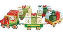 Adventi naptár készítő készlet, karton, vonat vagonokkal, 75x7x11cm