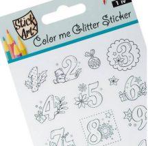 Karácsonyi matrica, színezhető adventi számok, 9x24cm