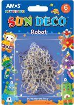 Fényvarázs formák üvegfestékhez, 6 db-os, fiús, Robot