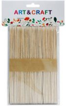 Fa pálcikák, spatula, natúr, 150x18 mm, 50 db/csomag