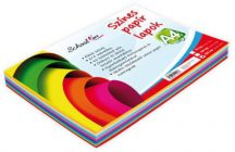 Színes papírok, fénymásolópapír A/4, 80g, 10 szín, 250 lap/cs