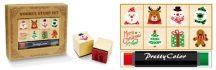 Nyomdakészlet, karácsonyi, 8 db nyomda és tintapárna