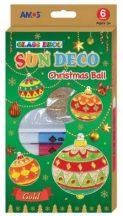 Üvegfesték készlet, 6x10ml 6 db fényvarázs formával, Amos, karácsonyi gömbök