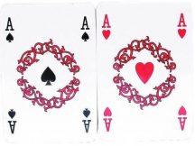 Francia kártya, römi 2 pakli, celofán csomagolásban
