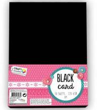 Fekete karton, fotókarton, A/4, 220 g, 10 lap/cs