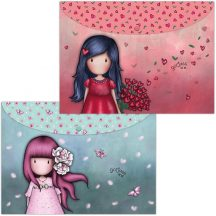 Santoro Gorjuss, irattartó A/4, patentos, 2 db-os, Sparkle & Bloom Cherry Blossom & Sparkle & Bloom Love Grows