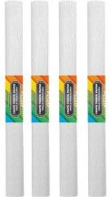 Krepp papír 50x200cm, egyszínű, fehér