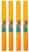 Krepp papír 50x200cm, egyszínű, világos narancs