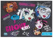 Monster High matrica album A/5, 8 lap