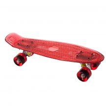 Világító penny board gördeszka, piros
